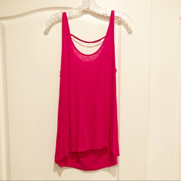 American Eagle Outfitters Tops - American Eagle Outfitters AEO Hot Pink Tank